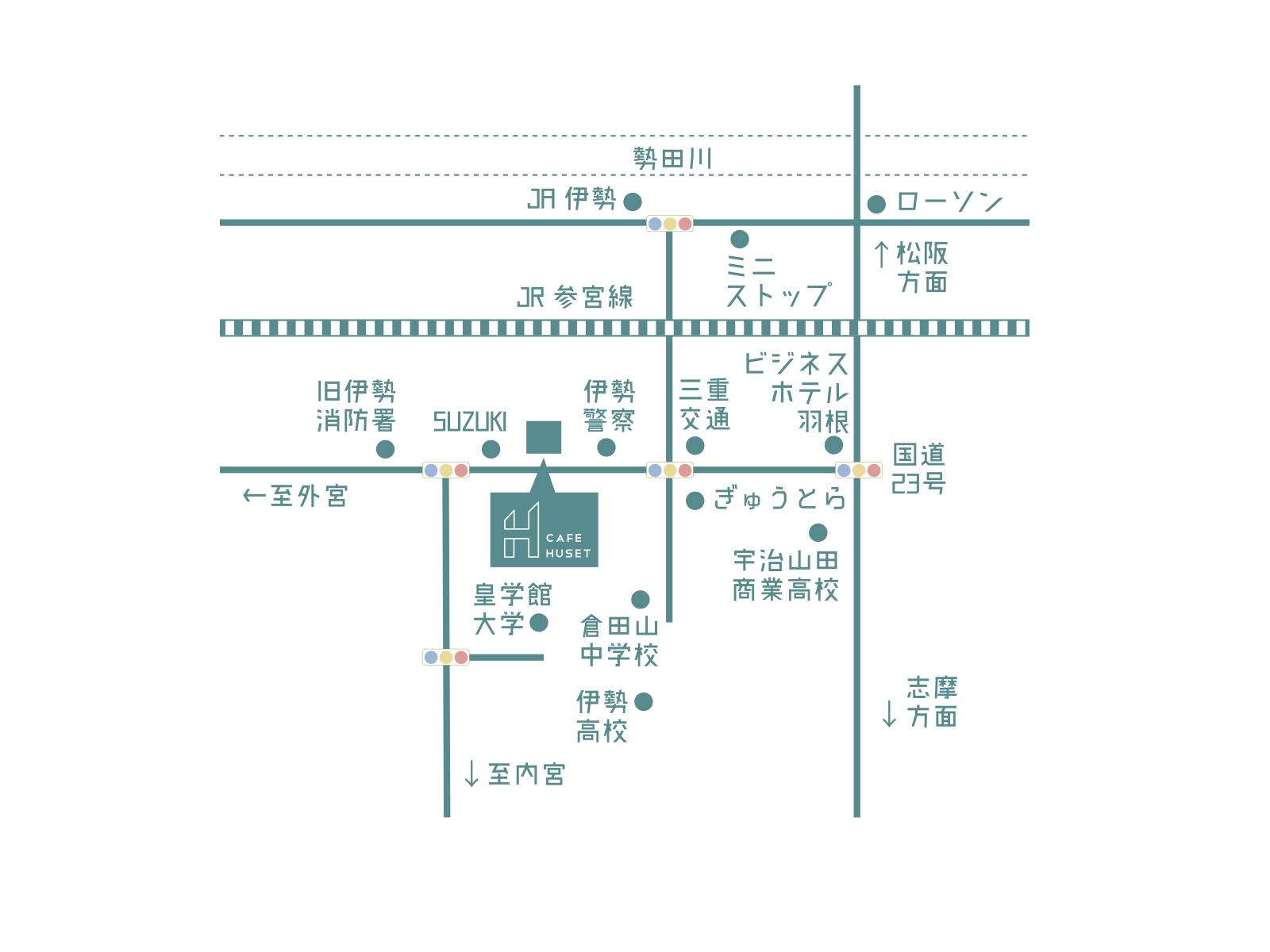 cafe huset map